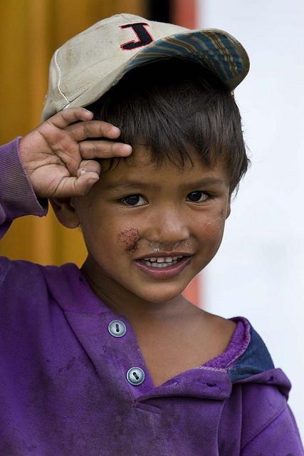 鏡頭下笑容可愛的不丹小孩童