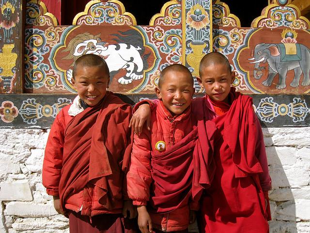 不丹旺頗章的三個有趣的小喇嘛
