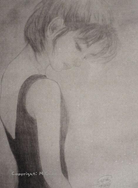 鉛筆素描練習之《思念》