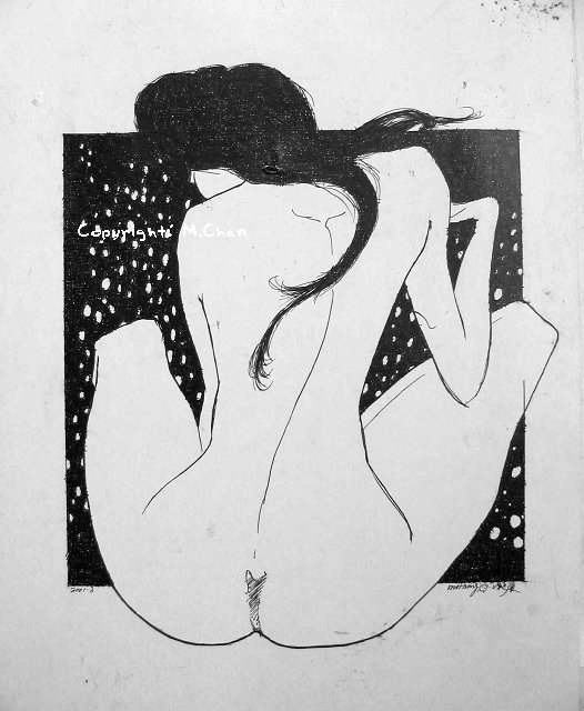針管筆繪畫《女人體》