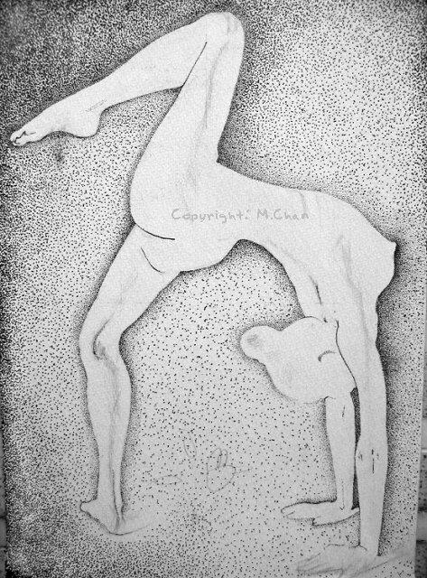 針管筆繪畫《女人體2》