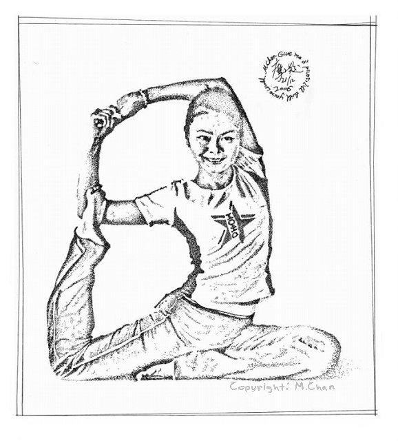 針管筆繪畫《瑜伽·舞王式》